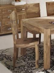 Stuhl Wiam aus Shesham Massivholz natur