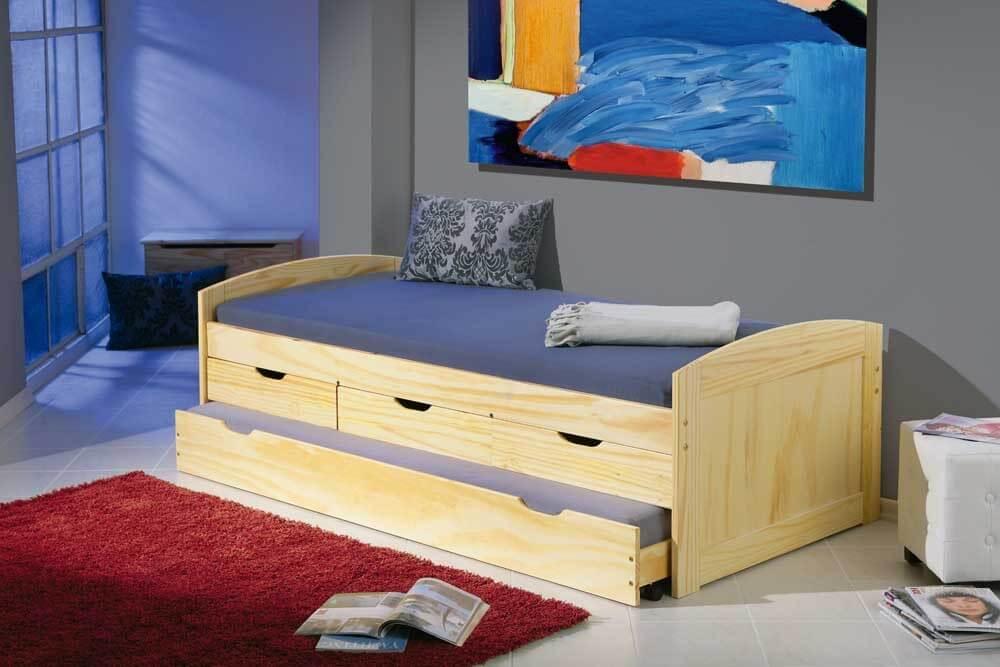 kinderbett marinella 90 x 200 kiefer massiv lackiert mit. Black Bedroom Furniture Sets. Home Design Ideas