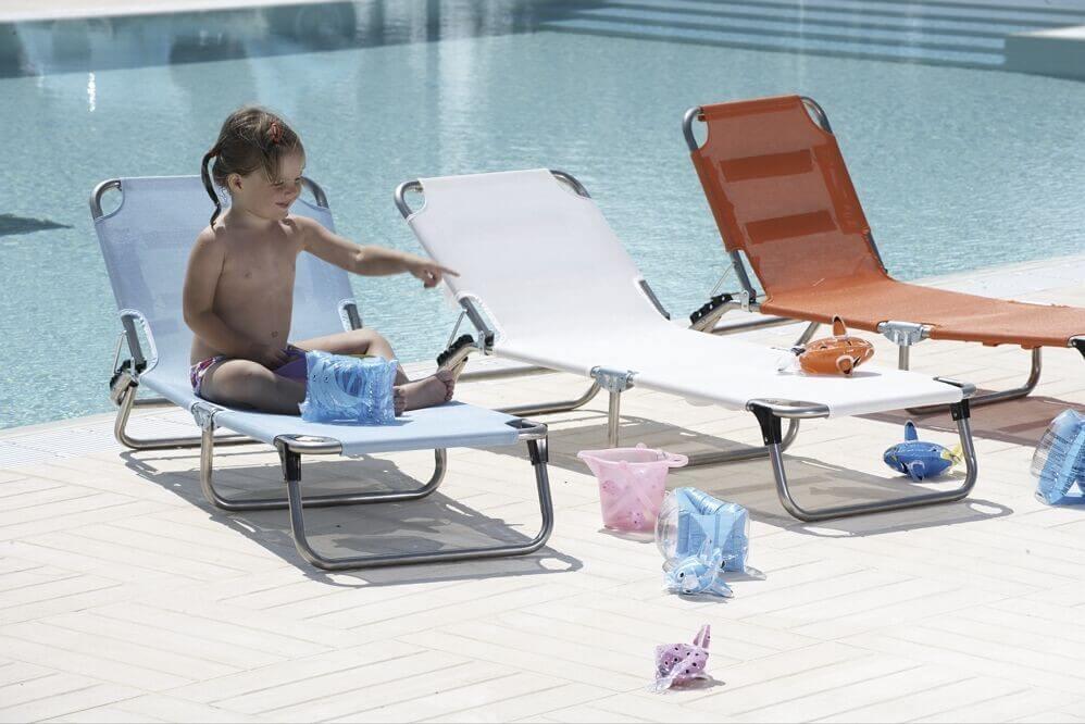 Gartenmobel Tisch Grob : Fiam AluLiege Sonnenliege Kinderliege Amigo Junior