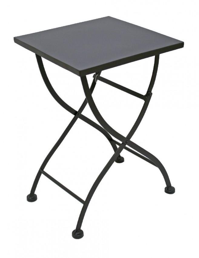 klapptisch beistelltisch eisentisch trigolo dunkel lackiert. Black Bedroom Furniture Sets. Home Design Ideas