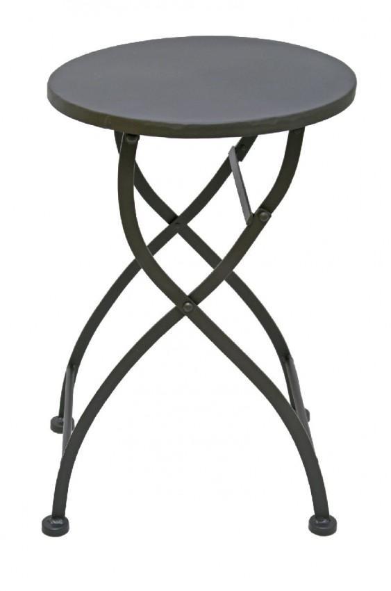 klapptisch beistelltisch eisentisch lazise rund metall dunkelbraun. Black Bedroom Furniture Sets. Home Design Ideas