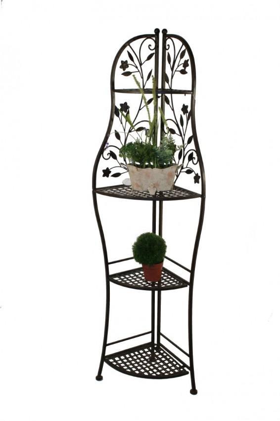 eisenregal eckregal metallregal randolphi klappbar antik. Black Bedroom Furniture Sets. Home Design Ideas