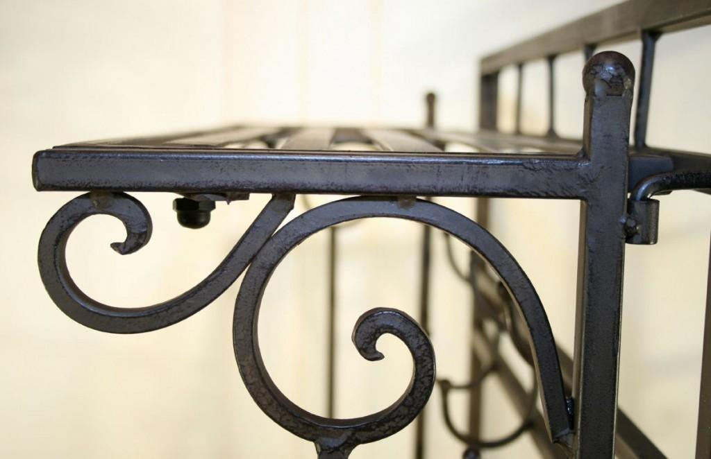 garderobe wandgarderobe cilento 3 ablagen und haken eisen. Black Bedroom Furniture Sets. Home Design Ideas