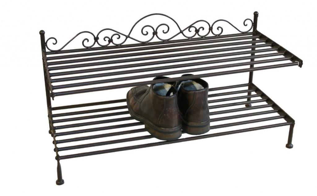 landhaus regal schuhregal scarlino schuhablage in eisen. Black Bedroom Furniture Sets. Home Design Ideas