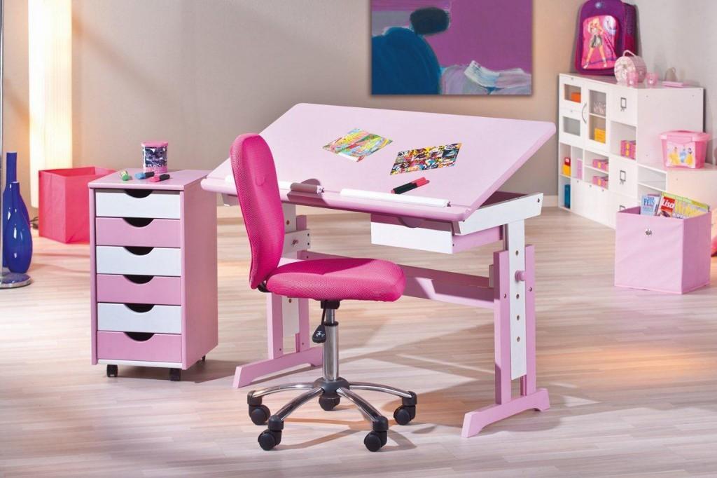 kinderschreibtisch cecilia verstellbar pink. Black Bedroom Furniture Sets. Home Design Ideas