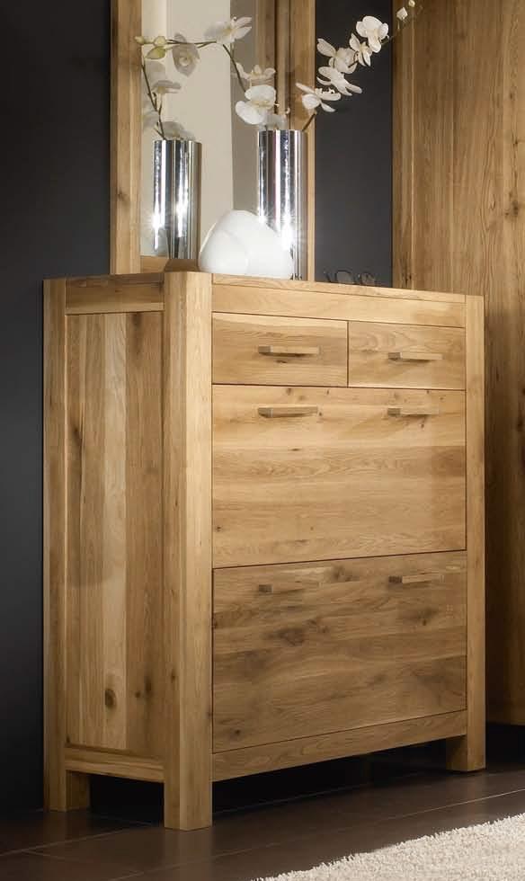 schuhschrank casa 1395 wildeiche massivholz massiv ge lt. Black Bedroom Furniture Sets. Home Design Ideas