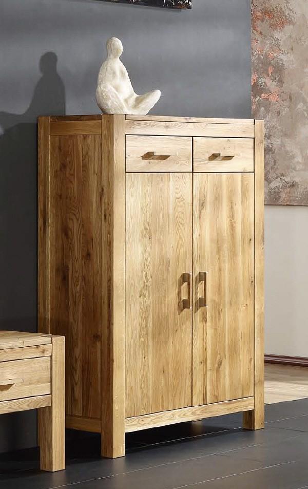 Vertiko 1394 Casa 2-türig Wildeiche Massivholz geölt von Henke