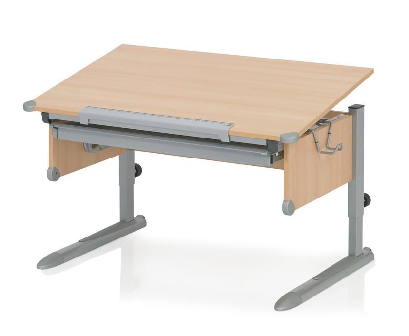 Schreibtisch Kinderschreibtisch College Box - Buche Silber