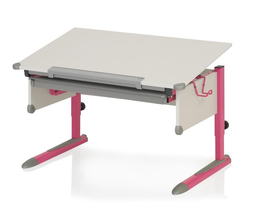 Kinderschreibtisch College Box - Weiß Pink