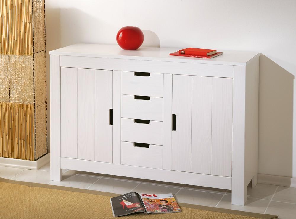 kommode bertram kiefer massivholz wei. Black Bedroom Furniture Sets. Home Design Ideas