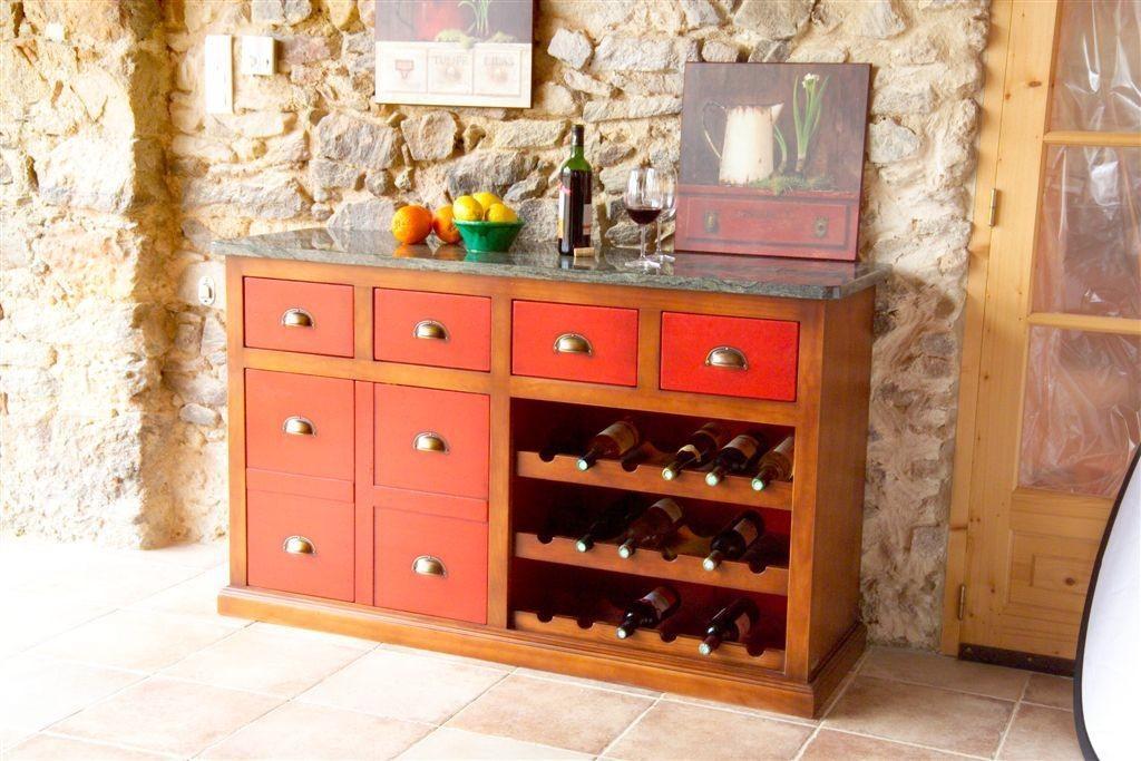 Winzer Anrichte Weinschrank mit Granitplatte von Siguier