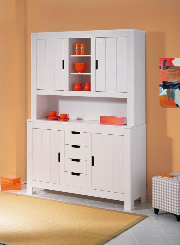 buffet k chenschrank berthold geschirrschrank kiefer wei. Black Bedroom Furniture Sets. Home Design Ideas