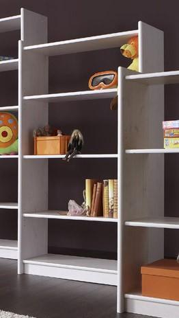regal b cherregal moby 140 x 80 kiefer massiv wei lackiert. Black Bedroom Furniture Sets. Home Design Ideas