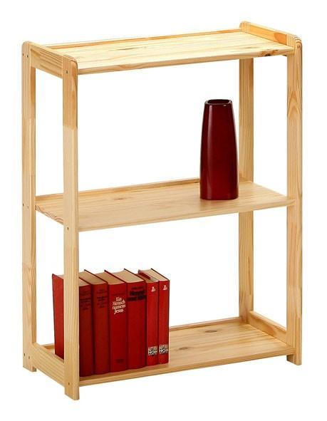 Regal Bücherregal Gina 3 Kiefer natur lackiert