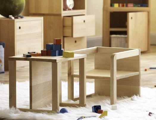 Kindersessel Kindertisch HUGO von Jan Kurtz Kinderstuhl Buche massiv