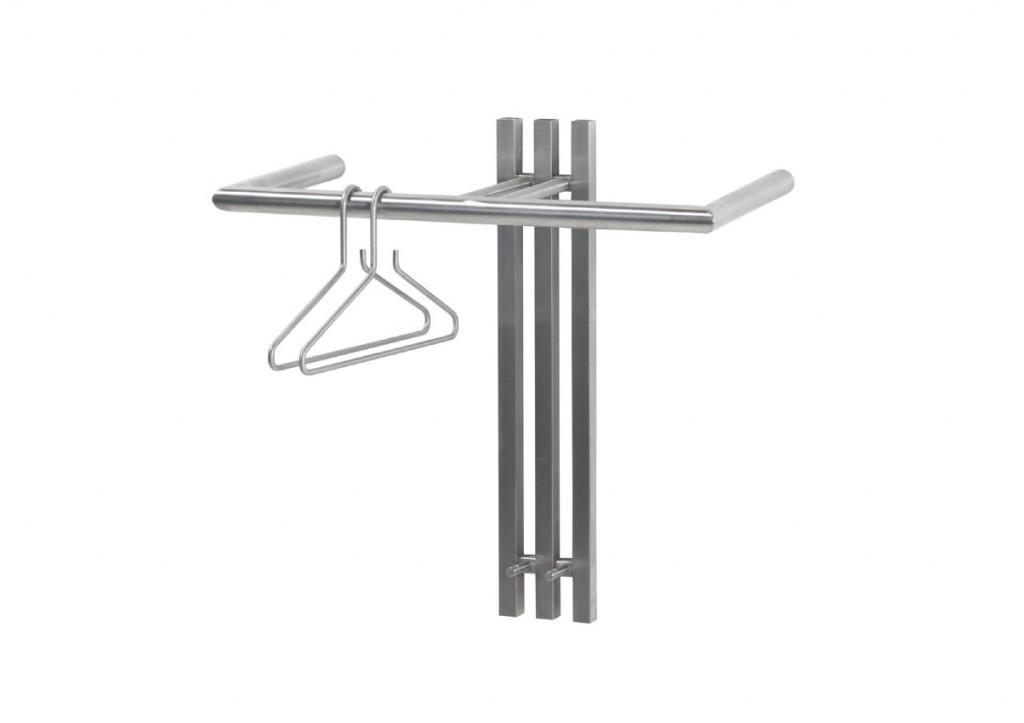 Wandgarderobe senza 1 in edelstahl - Dielenmobel design ...
