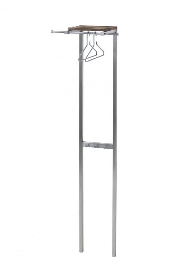 garderobe wandgarderobe boy 1 edelstahl nussbaum. Black Bedroom Furniture Sets. Home Design Ideas