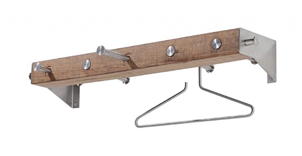 design wandgarderobe klos 2 edelstahl eiche. Black Bedroom Furniture Sets. Home Design Ideas