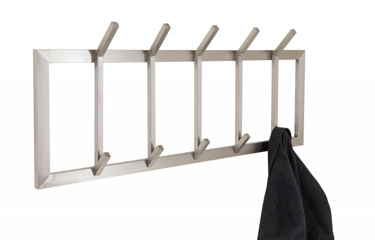 Wandgarderobe immo 5 aus edelstahl for Garderobe edelstahl