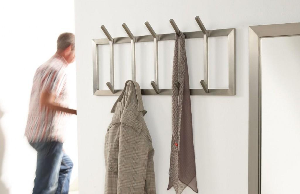 design garderobe wandgarderobe immo 5 edelstahl ebay. Black Bedroom Furniture Sets. Home Design Ideas