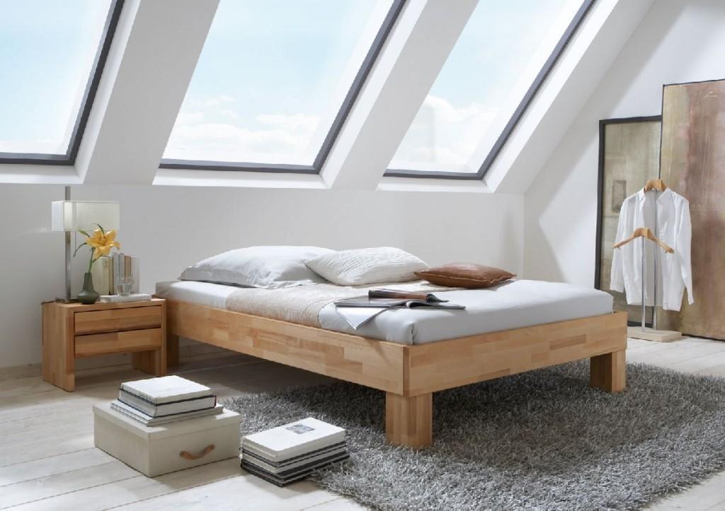bett massivholzbett 140 x 200 kernbuche ge lt rahmen. Black Bedroom Furniture Sets. Home Design Ideas