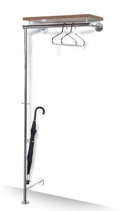 garderobe flexi 2 silber lackiert mit schirmst nder. Black Bedroom Furniture Sets. Home Design Ideas