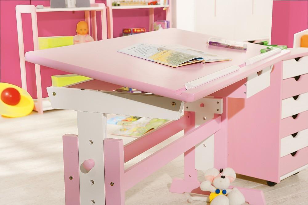 abc kinderschreibtisch f r m dchen pink verstellbar. Black Bedroom Furniture Sets. Home Design Ideas
