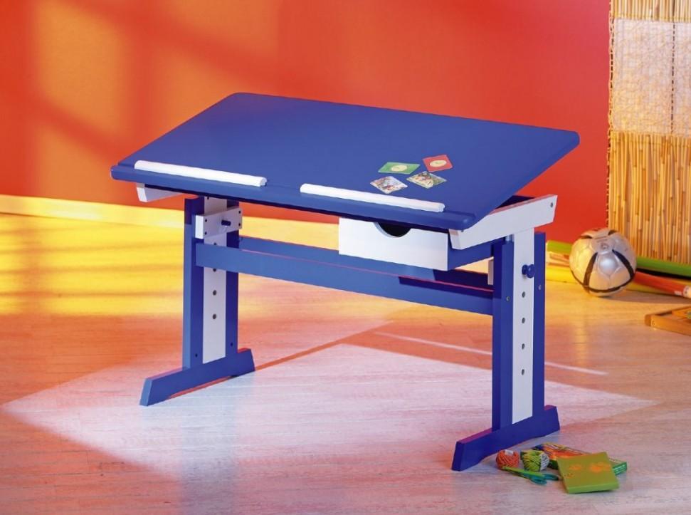 abc schreibtisch kinderschreibtisch paco blau wei f r jungs. Black Bedroom Furniture Sets. Home Design Ideas