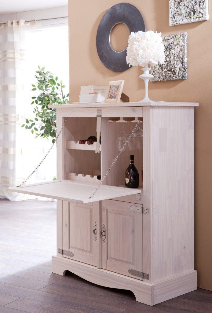 bar hausbar barschrank 3510 mexican kiefer massiv wei von. Black Bedroom Furniture Sets. Home Design Ideas