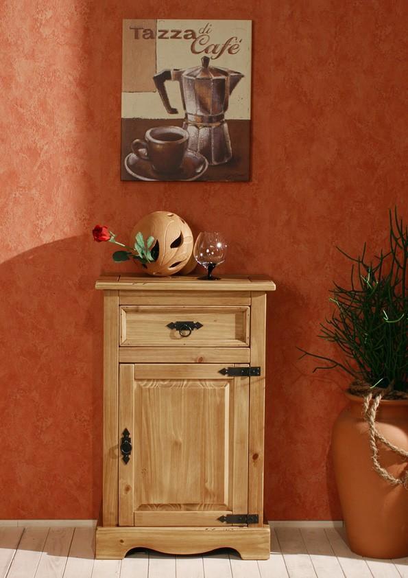 Kommode Mexican 1491 Kiefer massiv antik gewachst -> Kommode Antik Massiv