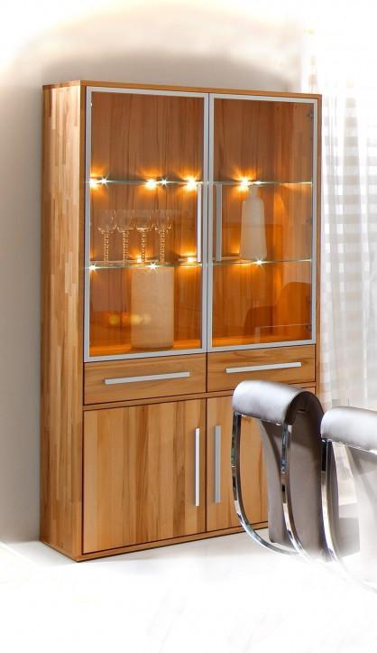 vitrine constanze 4 t ren von gradel massivholzm bel. Black Bedroom Furniture Sets. Home Design Ideas