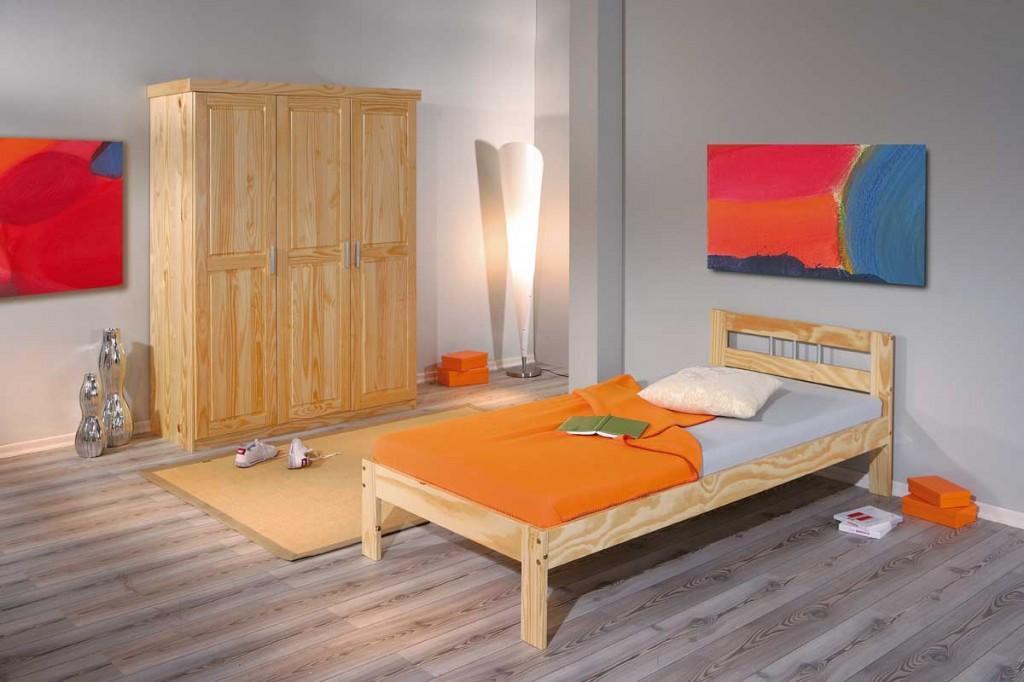 schlafzimmer kleiderschrank pelle bett jana kiefer natur