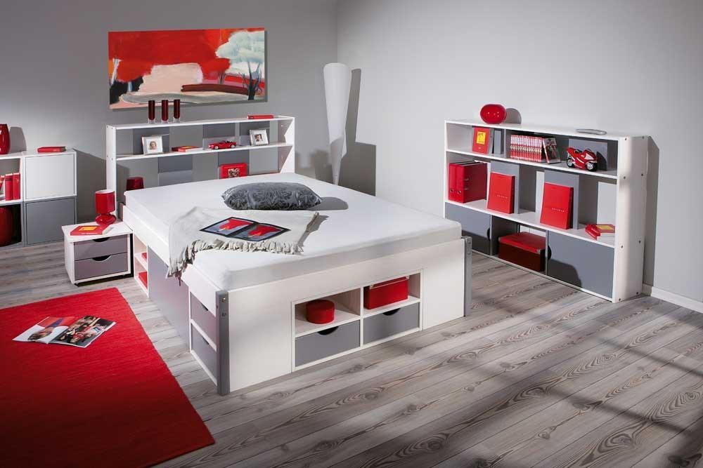 Bett Funktionsbett Mikar 140 x 200 Kiefer Massivholz Vorschau