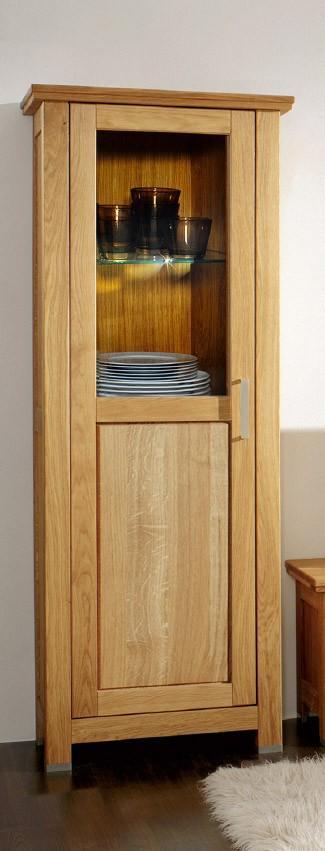 vitrine anja eiche massivholz ge lt von gradel. Black Bedroom Furniture Sets. Home Design Ideas