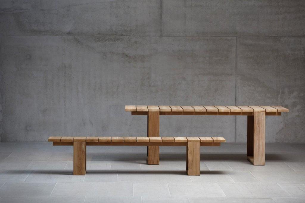 Gartentisch Teak Tischgruppe GALLERY Esstisch und Bank von Jan Kurtz