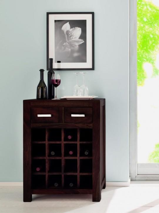 Regal Weinregal Wiam aus Shesham Holz gebeizt und lackiert