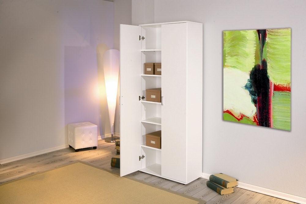 b roschrank aktenschrank arconati melamin wei 2 t ren 5. Black Bedroom Furniture Sets. Home Design Ideas