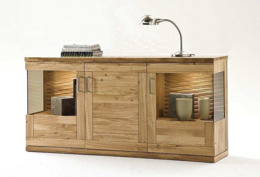 sideboard sandra 3301 kernbuche oder wildeiche. Black Bedroom Furniture Sets. Home Design Ideas