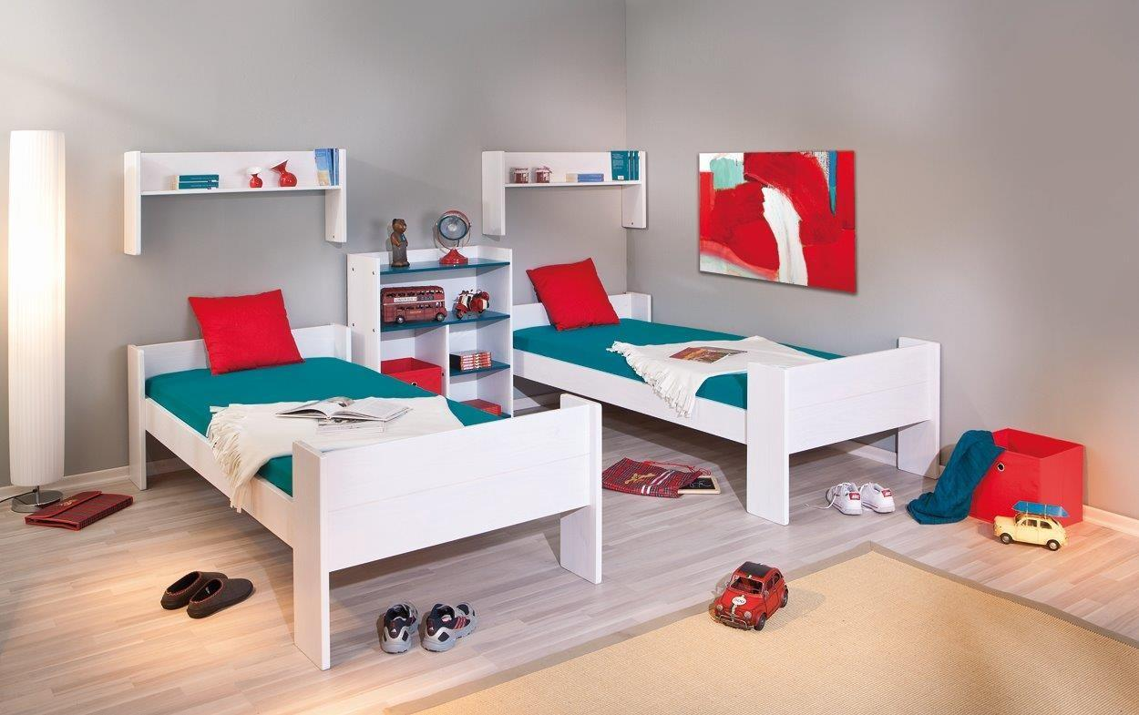 bett kinderbett hochbett dream well 3 kiefer wei lackiert. Black Bedroom Furniture Sets. Home Design Ideas
