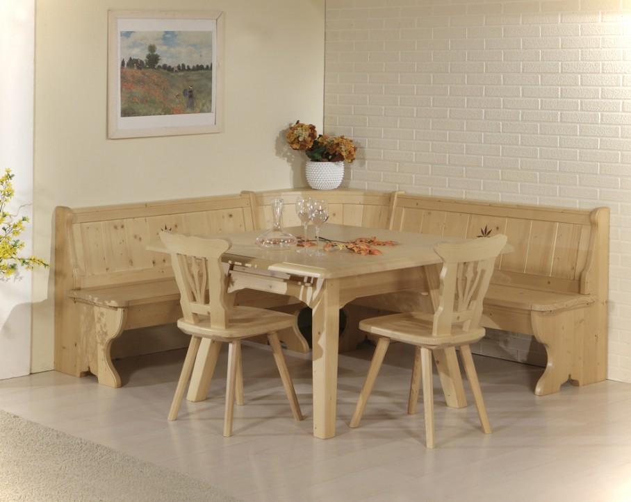 Eckbankgruppe essgruppe sudtirol fichte massivholz gebeizt for Eckbankgruppe küche