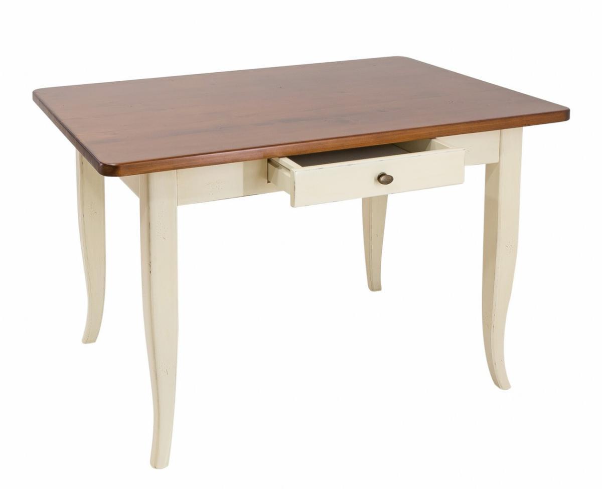 Esstisch Verona ~ Esstisch Verona Esszimmertisch mit Schublade Fichte Massiv lackiert