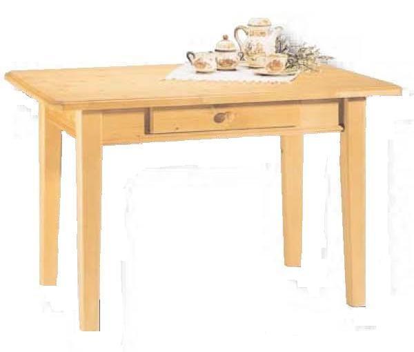 Esstisch linz esszimmertisch mit schublade fichte for Esstisch mit schublade