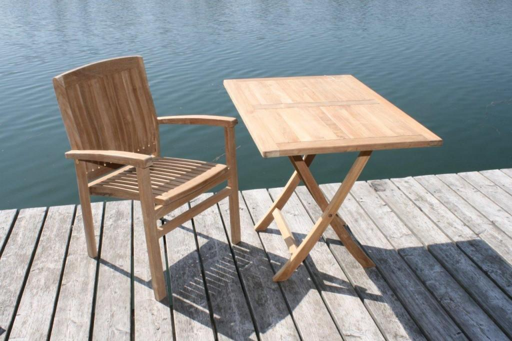 gartentisch klapptisch paris in premium teak 110 x 70 cm. Black Bedroom Furniture Sets. Home Design Ideas
