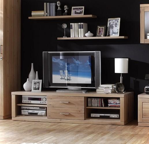 tv board lowboard bianca 025 180 cm kernbuche oder wildeiche. Black Bedroom Furniture Sets. Home Design Ideas