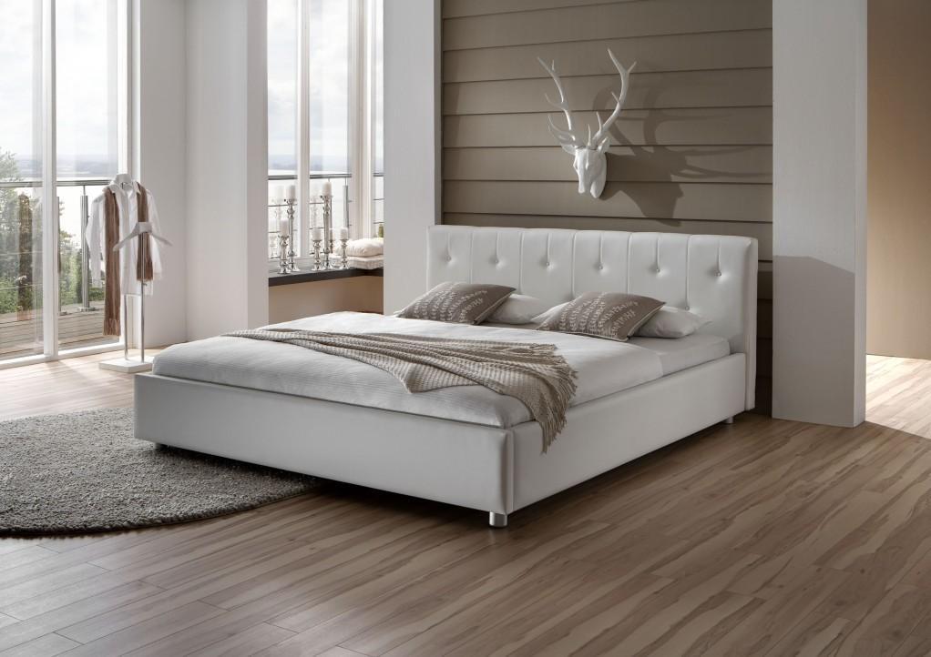 Bett Nako Rom : Pin Loom Bett 140 X 200 Cm In Weiss Grau Gewischt Woody 73 00110 on ...