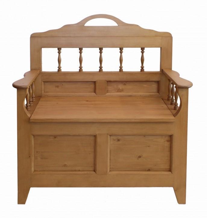 sprossentruhenbank truhenbank landhaus fichte gewachst. Black Bedroom Furniture Sets. Home Design Ideas