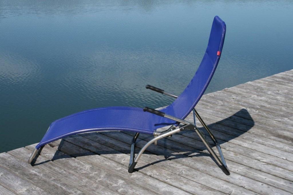 Sonnenliege Terrassenliege Relaxliege Samba dunkelblau von Jan Kurtz