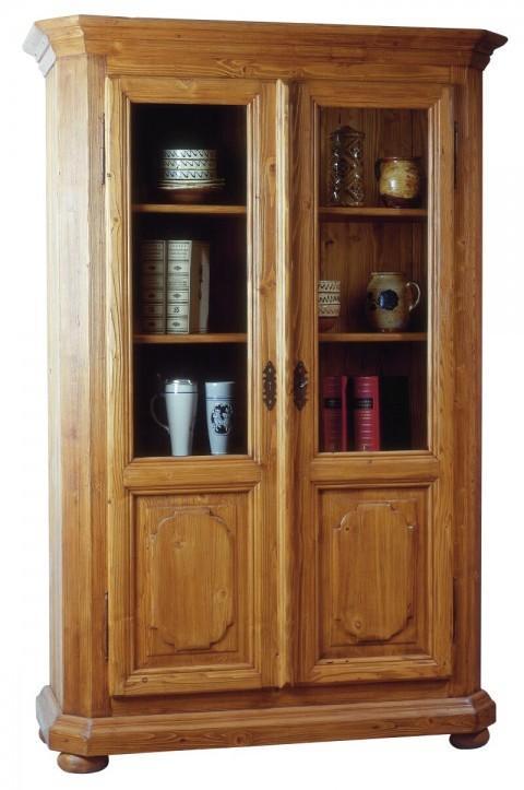 vitrine halbvitrine tegernsee 2 t ren fichte massiv. Black Bedroom Furniture Sets. Home Design Ideas