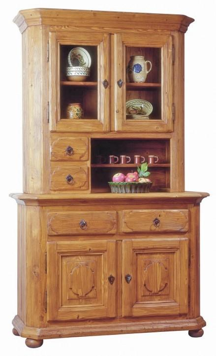 k chenbuffet geschirrschrank tegernsee fichte massiv altholz geb rstet. Black Bedroom Furniture Sets. Home Design Ideas