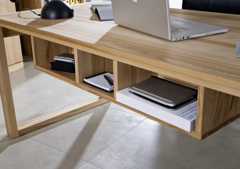unterbauregal f r schreibtisch arbeitstisch arcona kernbuche ge lt. Black Bedroom Furniture Sets. Home Design Ideas